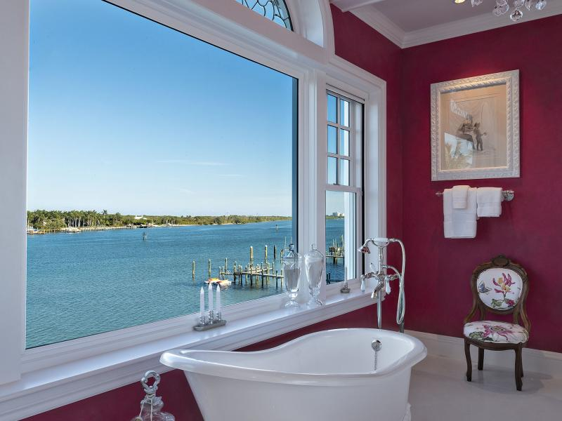 Coastal home custom hurricane impact windows