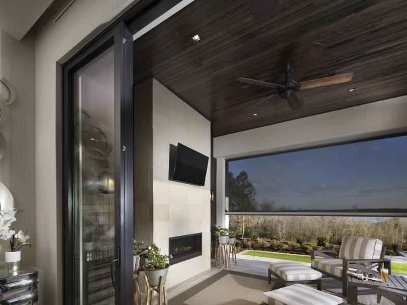 Contemporary impact sliding glass doors